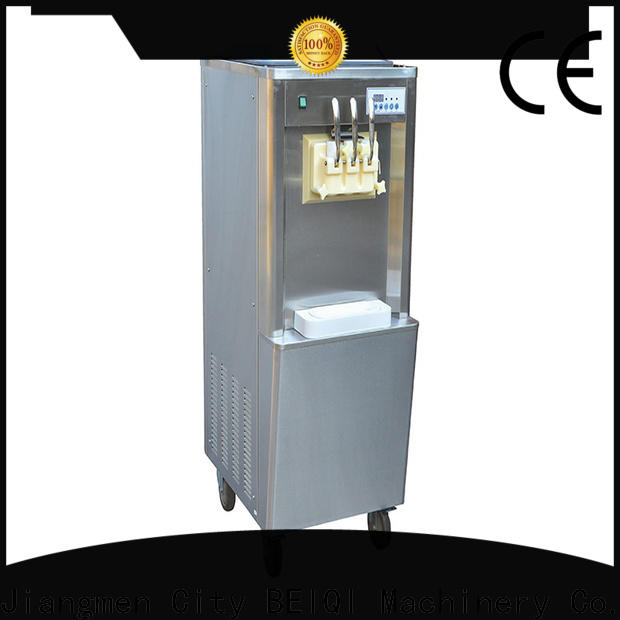 BEIQI silver soft serve ice cream machine for sale bulk production Snack food factory