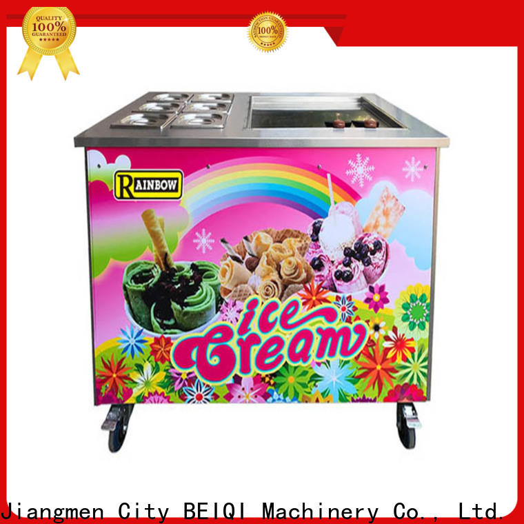 BEIQI Double Pan Fried Ice Cream making Machine suppliers for dinning hall