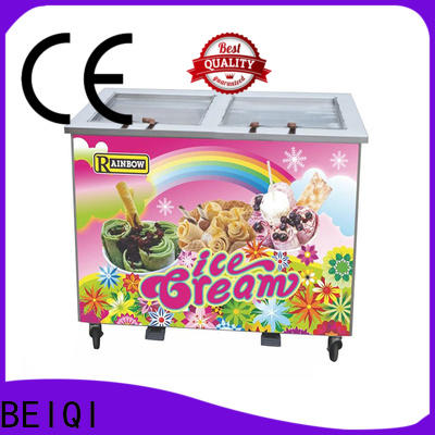 Top Fried Ice Cream making Machine silver cost for hotel
