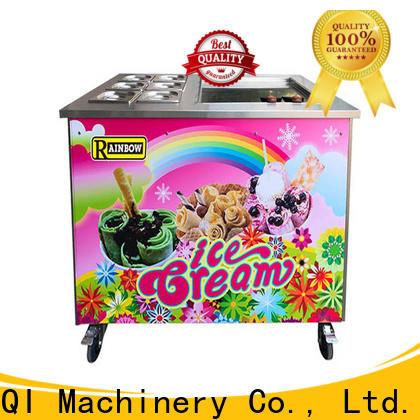 Custom Fried Ice Cream Maker silver vendor for dinning hall
