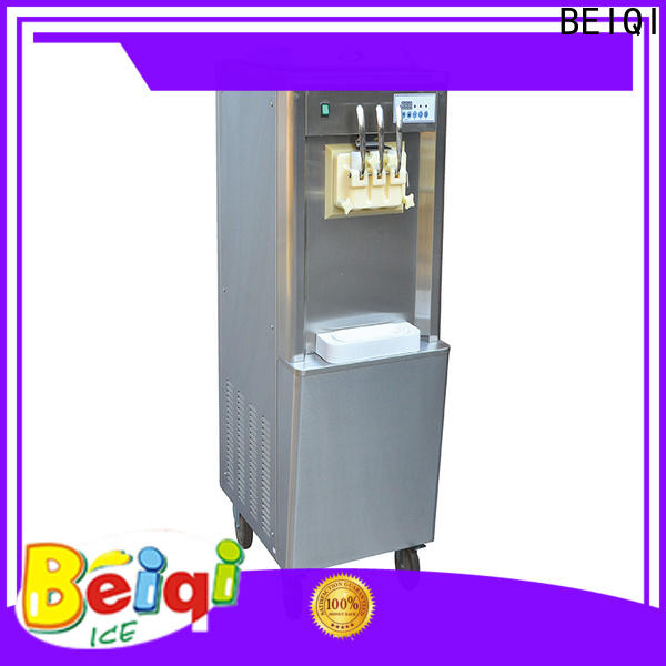 BEIQI silver self serve soft ice cream machine vendor for commercial use