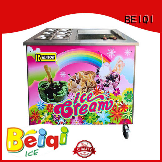BEIQI silver Fried Ice Cream making Machine free sample For dinning hall