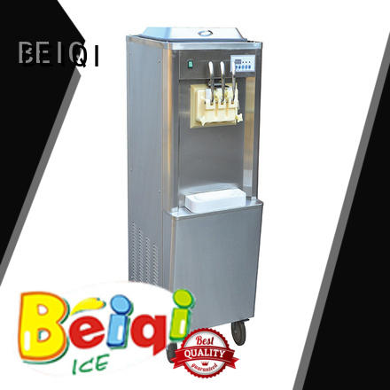BEIQI durable Manufacturer supply Commercial Soft Ice Cream Machine different flavors Frozen food factory