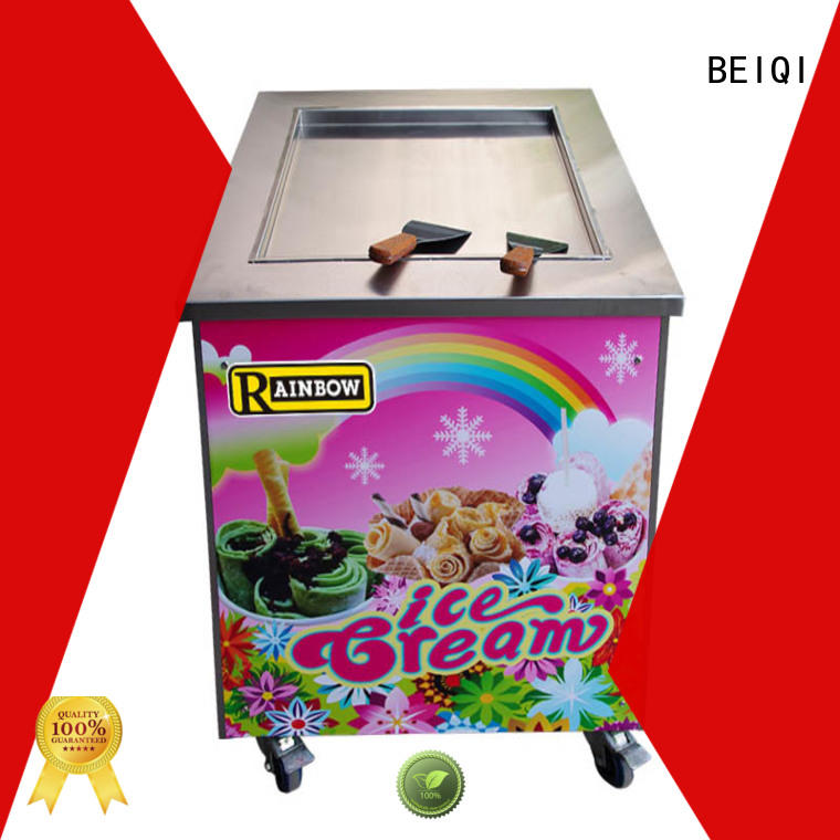 BEIQI different flavors Fried Ice Cream making Machine bulk production Snack food factory