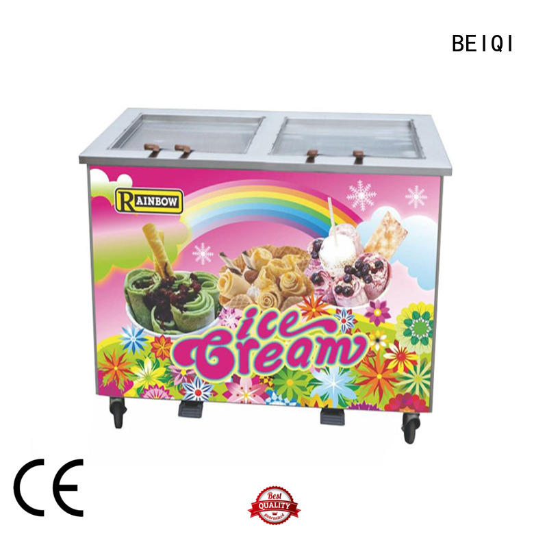 BEIQI silver Fried Ice Cream Machine free sample For Restaurant