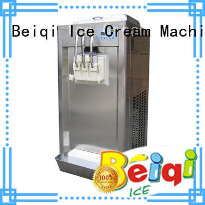 BEIQI high-quality Three flavors Soft Ice Cream Machine silver For Restaurant