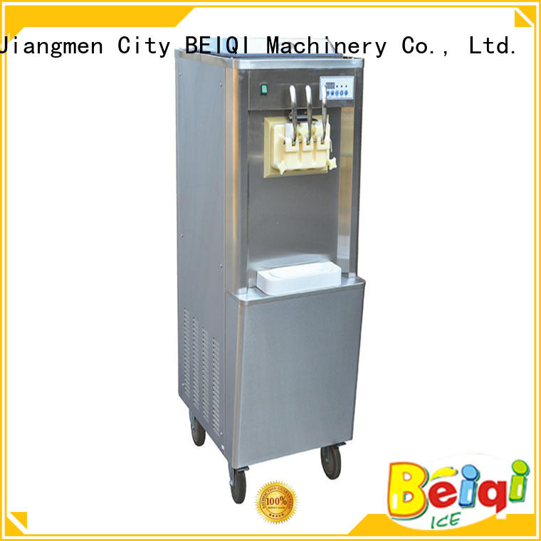 BEIQI silver soft serve ice cream machine for sale bulk production For commercial