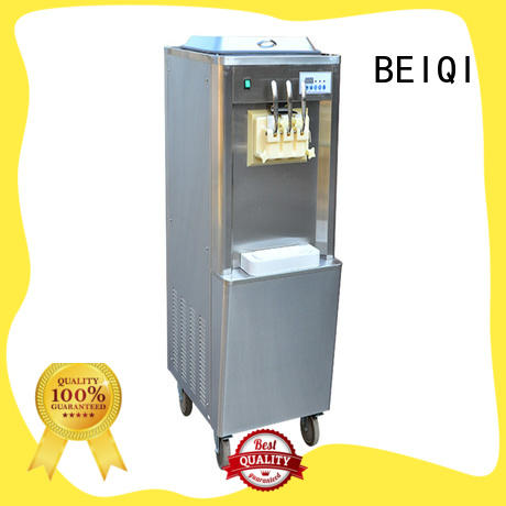 BEIQI silver Soft Ice Cream maker bulk production For Restaurant