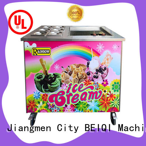 BEIQI silver Fried Ice Cream making Machine OEM Snack food factory