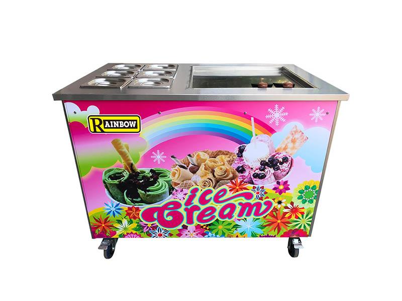 Custom Fried Ice Cream Maker silver vendor for dinning hall-2