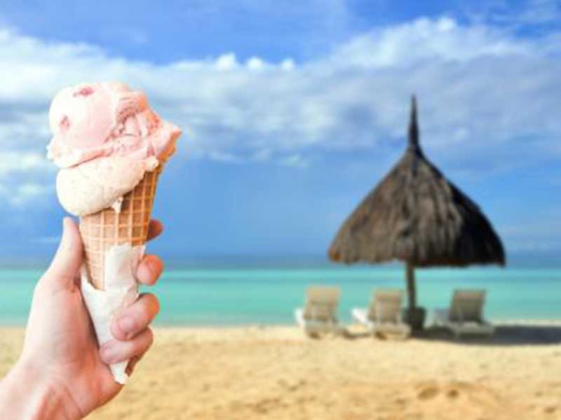Ice Cream Machine In Beach