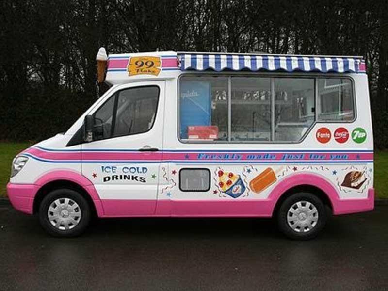 Ice Cream Machine In Ice Cream Car