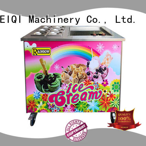 solid mesh Fried Ice Cream making Machine Double Pan get quote For dinning hall