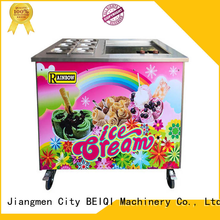 BEIQI Double Pan Fried Ice Cream Maker OEM For dinning hall