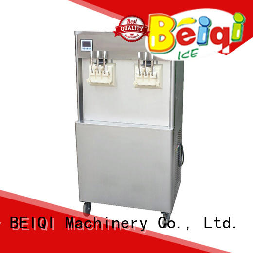 Breathable Soft Ice Cream Machine silver OEM Snack food factory