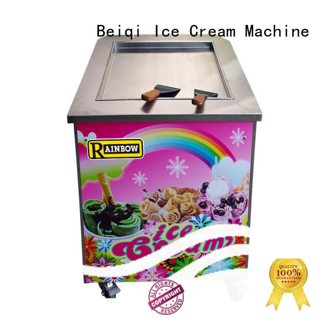 BEIQI Double Pan Fried Ice Cream Machine for wholesale For commercial