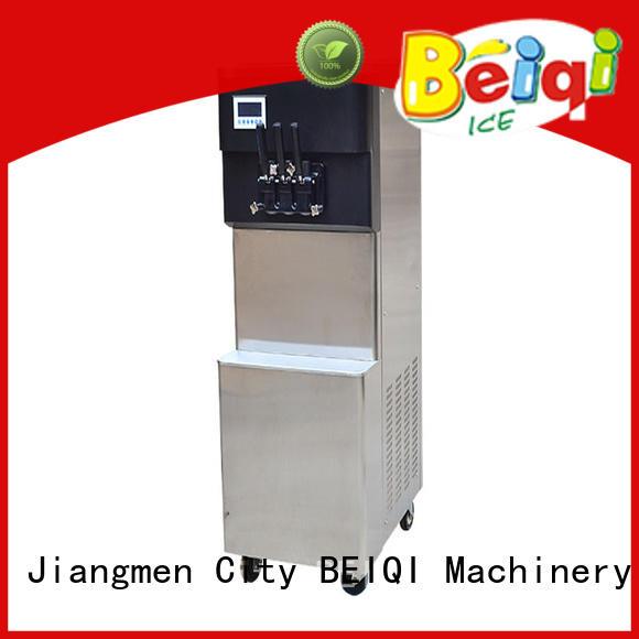 BEIQI silver soft serve ice cream maker bulk production Snack food factory