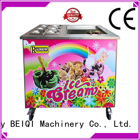 solid mesh Fried Ice Cream Maker Double Pan get quote Frozen food factory