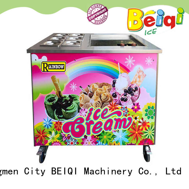 BEIQI different flavors Fried Ice Cream Maker customization For dinning hall