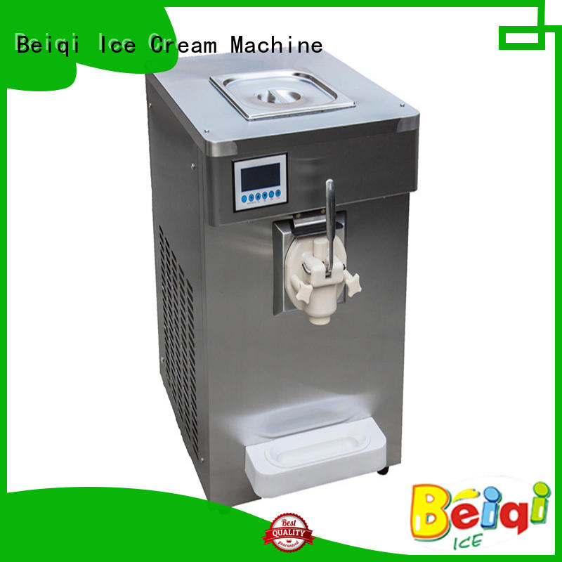 Breathable best soft serve ice cream machine different flavors for wholesale Frozen food factory