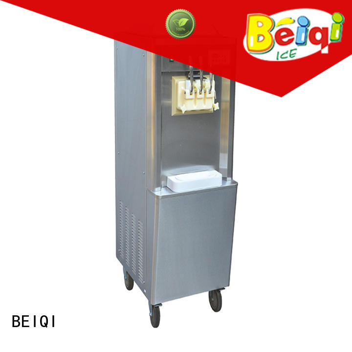 BEIQI Breathable Manufacturer supply Commercial Soft Ice Cream Machine commercial use Snack food factory