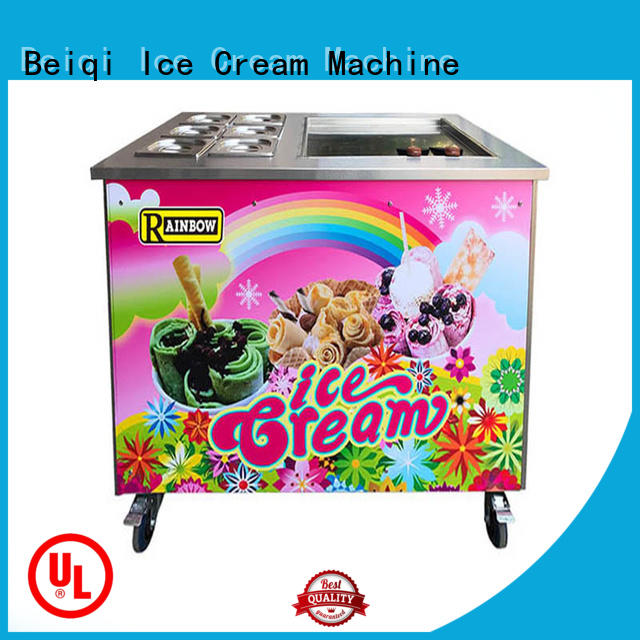 BEIQI silver Fried Ice Cream Maker OEM For dinning hall
