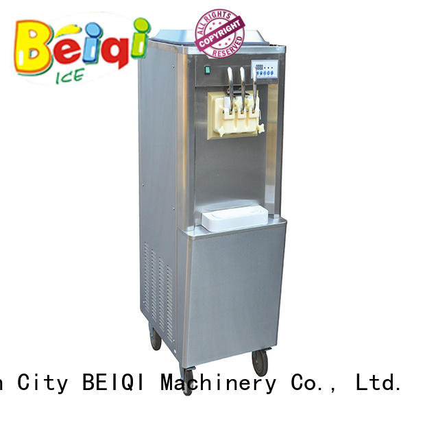 BEIQI silver ice cream machine price bulk production For dinning hall