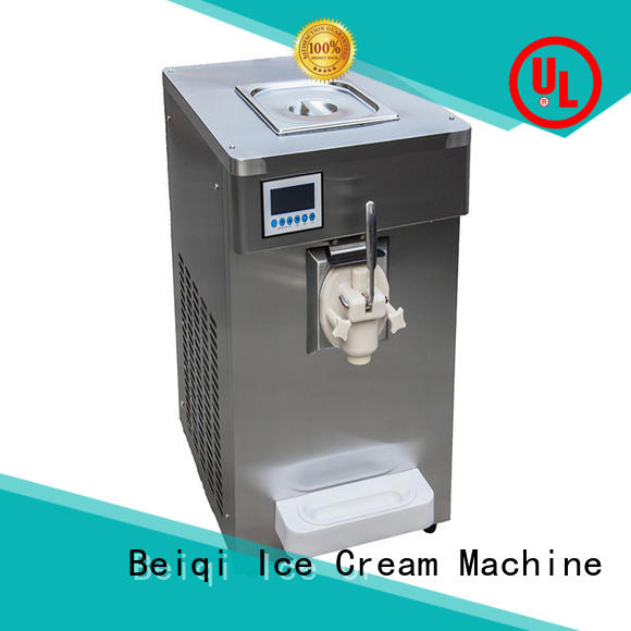 silver Soft Ice Cream Machine free sample Frozen food factory