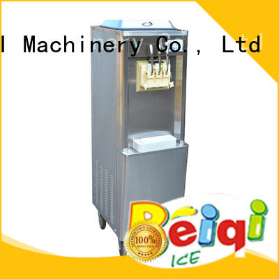 BEIQI silver Three flavors Soft Ice Cream Machine for wholesale For Restaurant