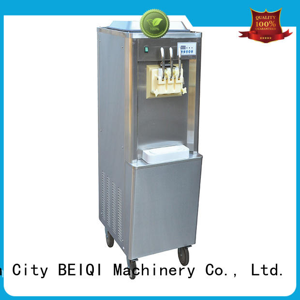 BEIQI solid mesh noise control Soft Ice Cream Machine different flavors For dinning hall
