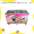 Breathable Fried Ice Cream making Machine Double Pan ODM For Restaurant