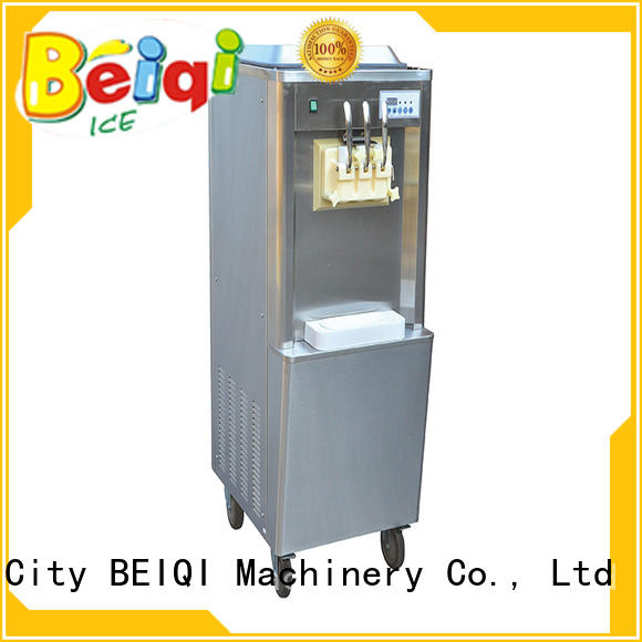 BEIQI silver ice cream maker machine bulk production For Restaurant