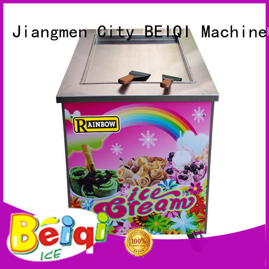 BEIQI funky Fried Ice Cream making Machine for wholesale Frozen food factory