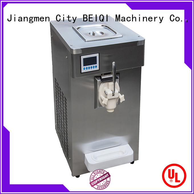 silver Three flavors Soft Ice Cream Machine customization For commercial BEIQI