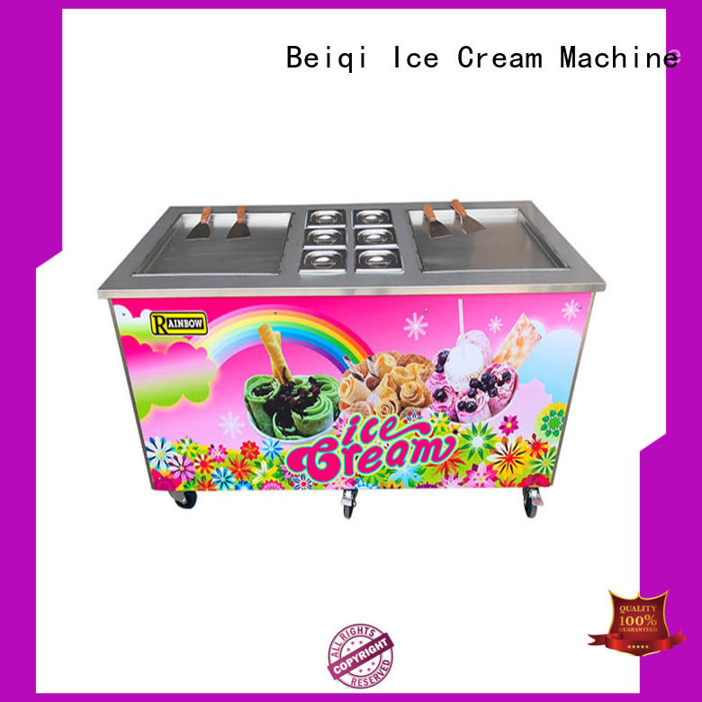 Breathable Fried Ice Cream Maker silver for wholesale Frozen food factory