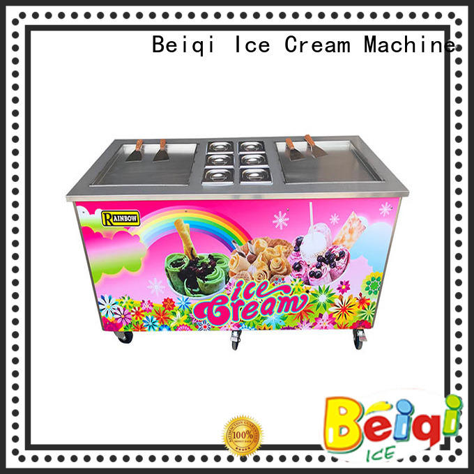 portable Fried Ice Cream making Machine Double Pan for wholesale Snack food factory