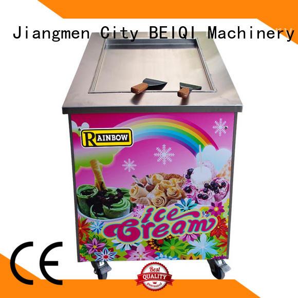 BEIQI Double Pan Fried Ice Cream making Machine customization For dinning hall