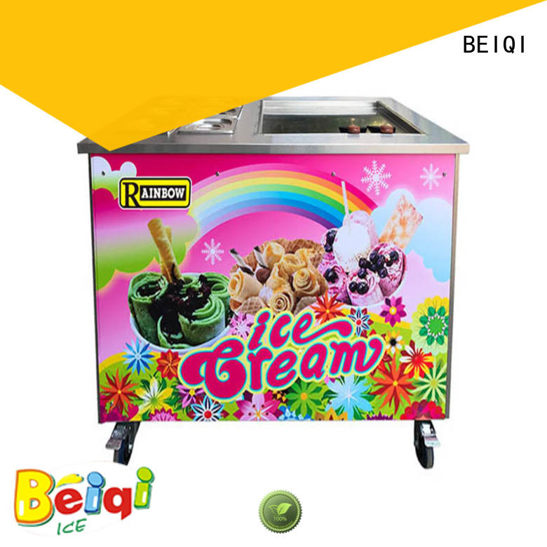 BEIQI silver Fried Ice Cream making Machine for wholesale Snack food factory