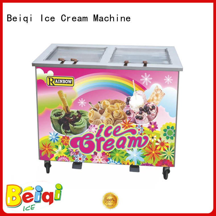 funky Fried Ice Cream Machine Double Pan for wholesale For dinning hall