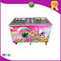 high-quality Fried Ice Cream Machine Double Pan OEM Snack food factory