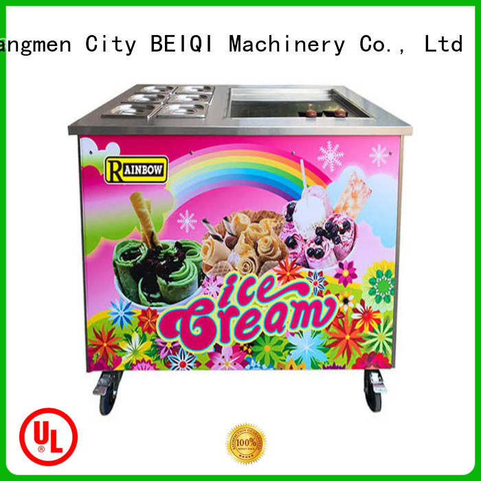 BEIQI different flavors Fried Ice Cream Machine free sample For dinning hall