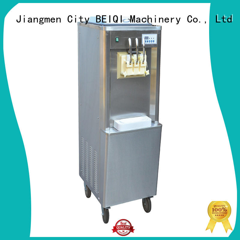 BEIQI solid mesh Soft Ice Cream Machine for sale for wholesale Snack food factory