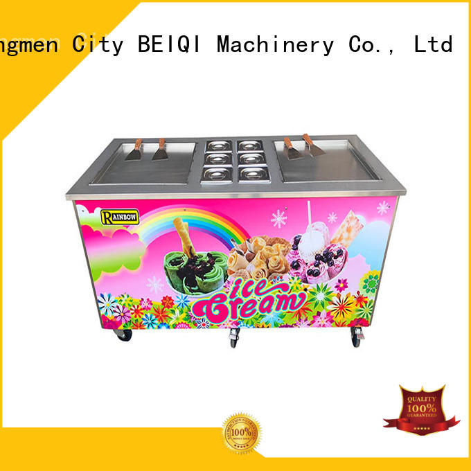 BEIQI silver Fried Ice Cream making Machine customization For commercial
