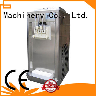 solid mesh commercial soft ice cream maker silver for wholesale Frozen food factory