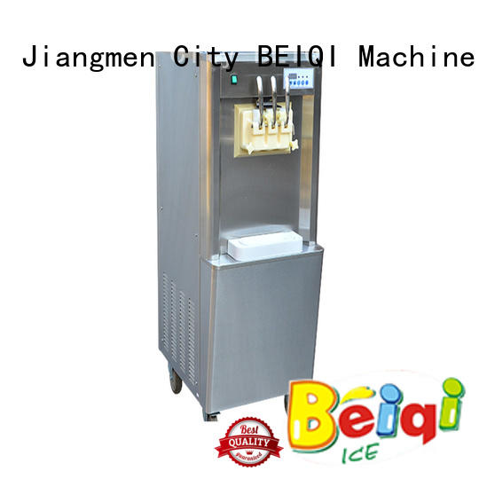 different flavors Soft Ice Cream Machine silver For dinning hall BEIQI