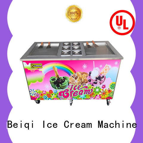 high-quality Fried Ice Cream Machine silver bulk production For dinning hall