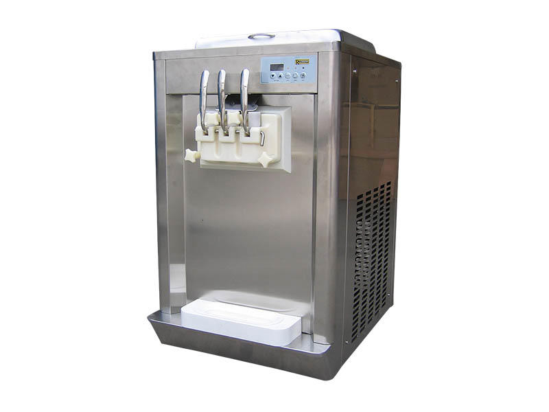 BEIQI high-quality Three flavors Soft Ice Cream Machine silver For Restaurant-2