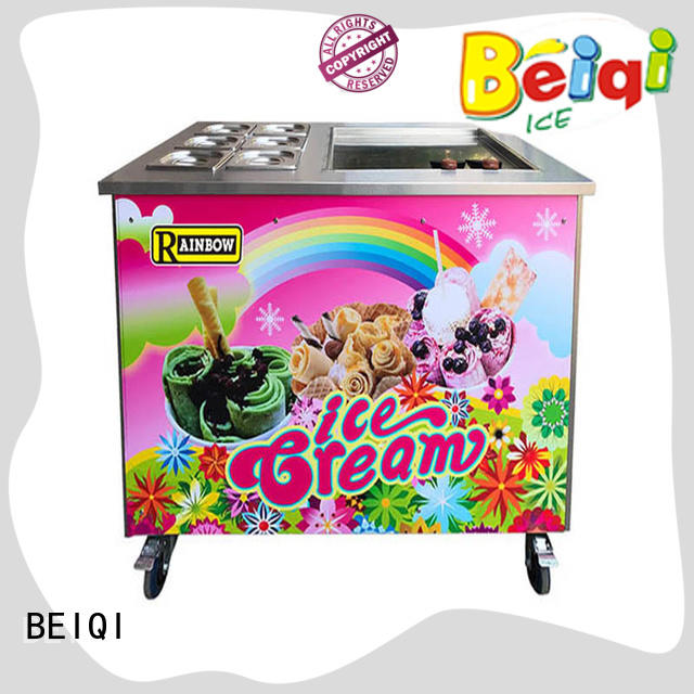 BEIQI different flavors Fried Ice Cream Maker bulk production For dinning hall