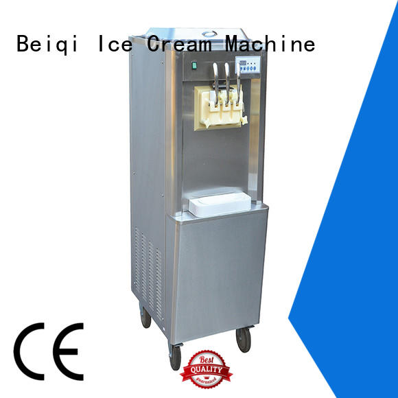 BEIQI commercial use Soft Ice Cream maker OEM Snack food factory