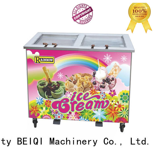 BEIQI Double Pan Fried Ice Cream Maker free sample For Restaurant